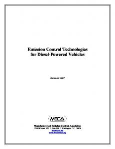 Emission Control Technologies for Diesel-Powered Vehicles