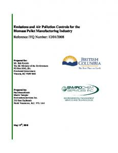 Emissions and Air Pollution Controls for the Biomass Pellet ...