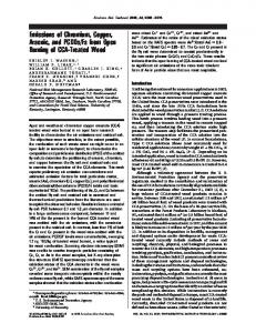 Emissions of Chromium, Copper, Arsenic, and ... - ACS Publications