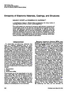 Emissivity of Electronic Materials, Coatings, and Structures