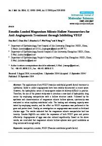 Emodin-Loaded Magnesium Silicate Hollow