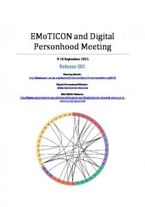 EMoTICON and Digital Personhood Meeting - Well Sorted