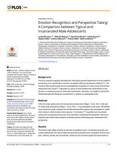Emotion Recognition and Perspective Taking: A Comparison ... - PLOS