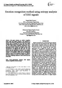 Emotion recognition method using entropy analysis of EEG signals