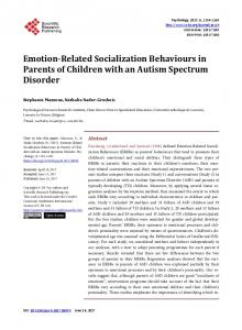 Emotion-Related Socialization Behaviours in