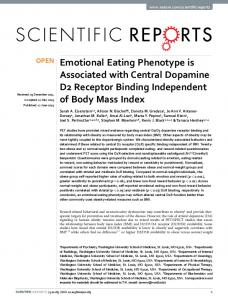 Emotional Eating Phenotype is Associated with ... - Semantic Scholar