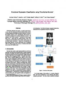 Emotional Expression Classification using Time-Series Kernels - CMAP
