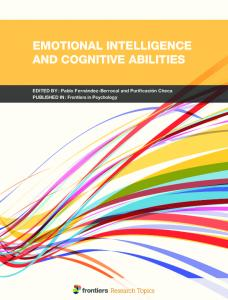 Emotional Intelligence and Cognitive Abilities