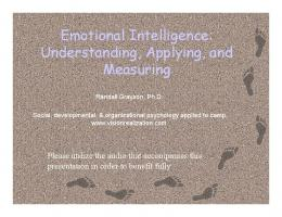 Emotional Intelligence: Understanding, Applying ... - Vision Realization