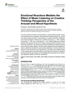 Emotional Reactions Mediate the Effect of Music