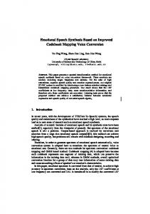 Emotional Speech Synthesis Based on Improved ... - Semantic Scholar