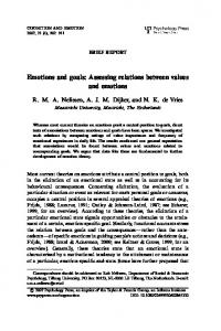 Emotions and goals: Assessing relations between values ... - CiteSeerX