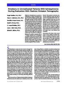 Emotions in Unmedicated Patients With ... - Semantic Scholar