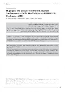 (EMPHNET) Conference 2011 - WHO EMRO - World Health ...
