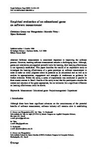 Empirical evaluation of an educational game on ... - Springer Link