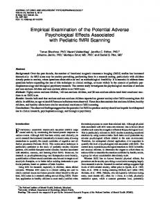Empirical Examination of the Potential Adverse Psychological Effects