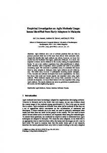 Empirical Investigation on Agile Methods Usage ... - Semantic Scholar