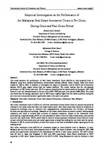 Empirical Investigation on the Performance of the ... - Semantic Scholar