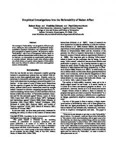 Empirical Investigations into the Believability of Robot Affect