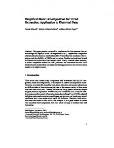 Empirical Mode Decomposition for Trend Extraction ...