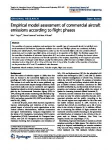 Empirical model assessment of commercial aircraft emissions ...