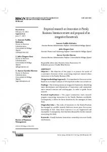 Empirical research on Innovation in Family Business