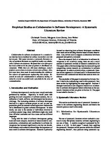 empirical studies on collaboration in software development a systematic literature review