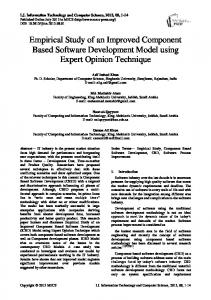 Empirical Study of an Improved Component Based Software ...