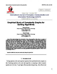 Empirical Study of Complexity Graphs for Sorting