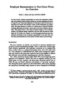 Employee Representation in NonUnion Firms: An ... - SSRN papers