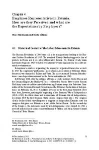 Employee Representatives in Estonia. How are they ... - Springer Link