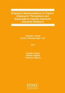 Employee Representatives in France - ESSEC Business School