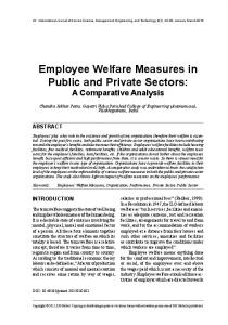 Employee Welfare Measures in Public and Private