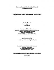 Employer-Based Health Insurance and Workers Skills - Economic ...
