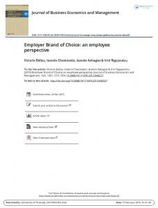 Employer Brand of Choice: an employee perspective