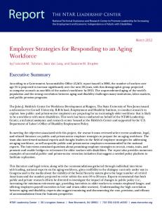 Employer Strategies for Responding to an Aging Workforce