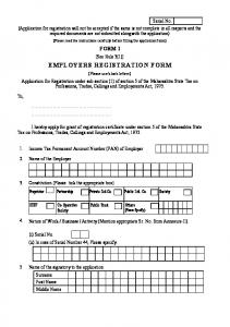 EMPLOYERS REGISTRATION FORM - ASCC