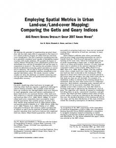 Employing Spatial Metrics in Urban Land-use/Land-cover Mapping ...