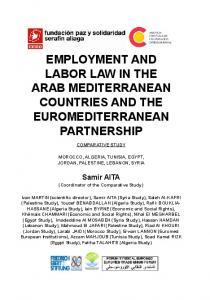 employment and labor law in the arab mediterranean ... - CCOO