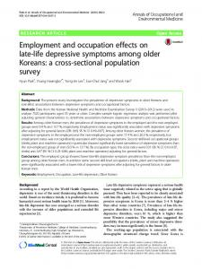 Employment and occupation effects on late-life ... - Springer Link