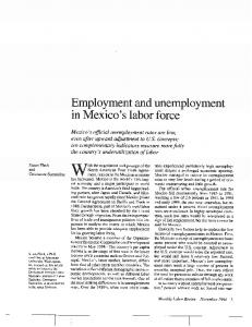 Employment and unemployment in Mexico's labor force