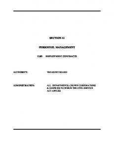 Employment Contracts - Government of Prince Edward Island