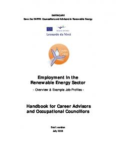 Employment in the Renewable Energy Sector ...
