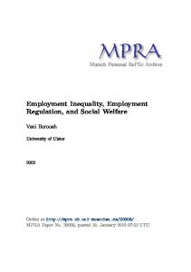 Employment Inequality, Employment Regulation, and Social Welfare