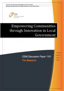 Empowering Communities through Innovation in Local Government