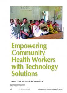 Empowering Community Health Workers with Technology Solutions