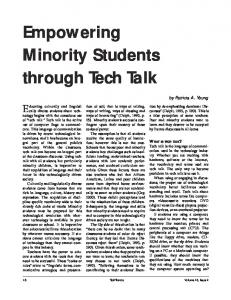 Empowering Minority Students through Tech Talk