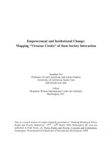 Empowerment and Institutional Change