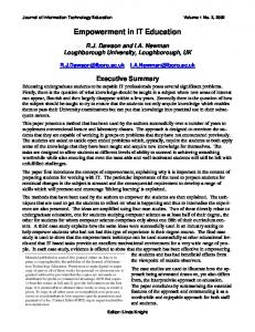 Empowerment in IT Education - Journal of Information Technology