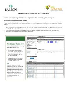 EMS and Outlook Best Practices guide.